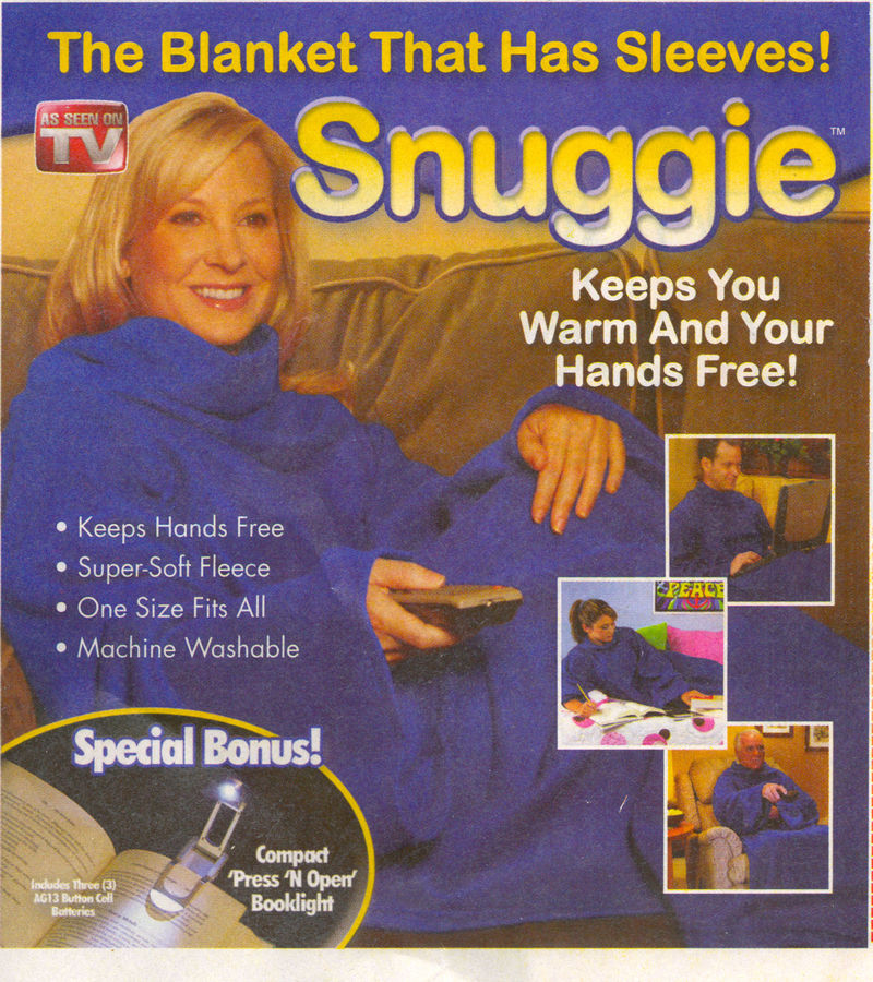 Snuggie sleeved blanket