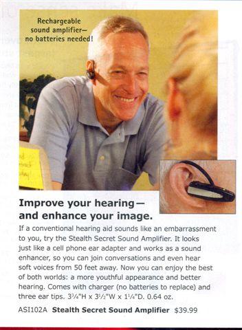Asshole hearing aid